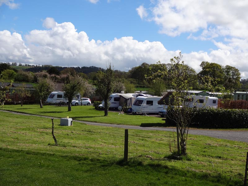 Hardstanding site - Touring Caravan Park in Tenbury Wells